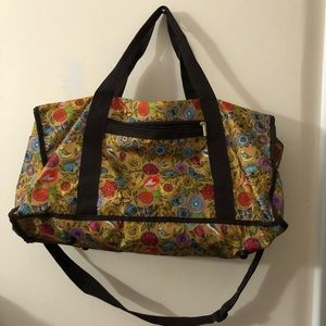 Floral Print Overnight Duffle Bag